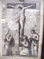 Antiker Kupferstich JESUS AM KREUZ um 1800 -R19