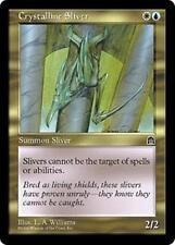 CRYSTALLINE SLIVER Stronghold MTG Gold Creature — Sliver Unc
