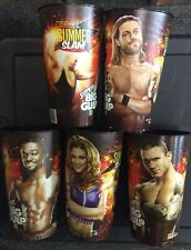 2010 WWE SUPERSTAR 7 ELEVEN SUPER BIG GULP SUMMER SLAM SET (5) CUPS NM