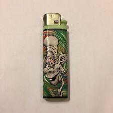 1 Solar Green Spiral Cyclops Stoner Smoke RedEye Head Graphic Disposable Lighter