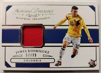 2018 NATIONAL TREASURES SOCCER * JAMES RODRIGUEZ /99 GAME USED RELIC * COLOMBIA!