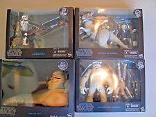 Star Wars Black Series 6 inch Deluxe set Tauntaun, Wampa, Jabba, speeder bike