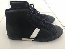 DIOR Homme Hi-Top Sneakers, Men's (Size 10) Black with White Details, Lace Ups