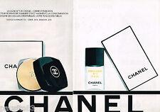 PUBLICITE ADVERTISING 055  1978  CHANEL   cosmétiques ( 2pages) EMULSION