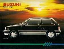 Suzuki 1984-85 UK Market Foldout Sales Brochure Alto Swift SJ410 ST90
