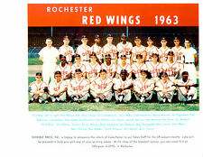 1963 ROCHESTER RED WINGS TEAM 8X10 PHOTO  BASEBALL BILKO EASTER VIRGIL