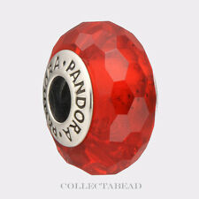 Authentic Pandora Sterling Silver Murano Fascinating Red Bead 791066