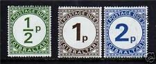 Gibraltar 1971 Postage Due set SG D4/6 MNH