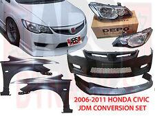 2006 2011 Honda Civic FD2 Type R Conversion Set Bumper Hood Lip Fenders Lights