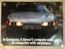 "1989 Porsche 928 GTS Coupe ""Airplanes"" Showroom Advertising Sales Poster RARE!!"