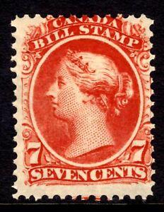 CANADA BILL STAMP #FB24 7c RED, 1865 QV, MNH