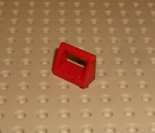 LEGO - Tile, Modified 1 x 2 with Handle, RED x 15 (2432) TM67