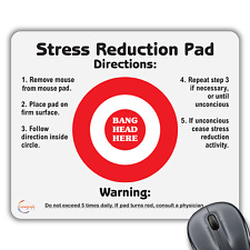 CP110 Very Funny Stress Reduction Pad Novelty Gift Print Computer Mouse Mat Pad