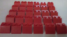 LEGO 30 RED 2x2 SLOPE BRICKS