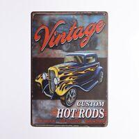 Vintage Custom  Hot Rod Garage Rat Rods Gas Vintage Retro Wall Decor Metal Plate