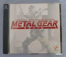 METAL GEAR SOLID-PC CD ROM 2 DISC VIDEO GAME-CONDIZIONI ECCELLENTI