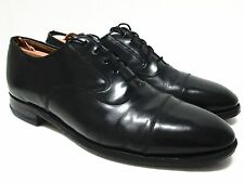 JOHNSTON & MURPHY Black Leather Dress Oxfords Size 9 1/2 C/A  **Resoled**