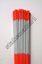 Driveway Markers Snow Stakes 400 Pack of 48 Inch Long Orange Reflective markers