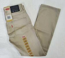NEW Boys Levis 511 Jeans Slim Fit Chinchilla Tan Beige Sz 8 10 12 14 #91R511 660