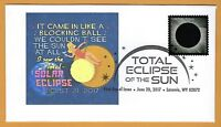 It Came In Like A Block Ball.  Total Solar Eclipse of the Sun. FDC