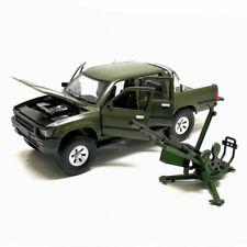 1:32 Toyota Hilux Pickup Truck w/ Anti-tank Gun Model Car Diecast Toy Gift Green