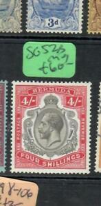 BERMUDA  (PP2507B) KGV KEYPLATE 4/-    SG 52A      MOG