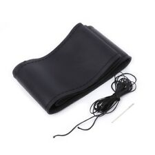 Universal Anti-slip Leather Car Steering Wheel Cover Case+Needles Thread DIY