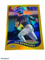 🔥 2002 • Alex Rodriguez • Topps Chrome Gold Refractor • 640 Sp Texas Rangers