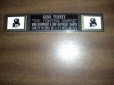 GENE TUNNEY (BOXING) NAMEPLATE FOR SIGNED GLOVES/TRUNKS/PHOTO DISPLAY