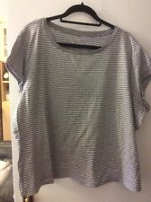 Short Sleeve T Shirt (grey and white stripe)