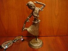 Amazing Antique/Vintage Sterling Silver Sculpture Dancing Girl 326g.Retail-$2850