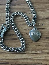BETA SIGMA PHI BEO Sorority Initiation Welcome Sterling Charm Bracelet Heart