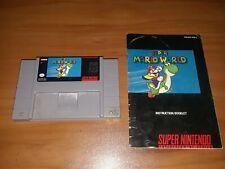 Super Mario World (Super Nintendo, SNES 1991) w/ manual tested NINTENDO!