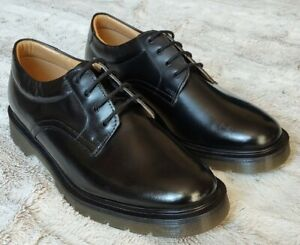 SOLOVAIR MENS BLACK LEATHER SHOES - MADE IN ENGLAND - UK 9 / EU 43 - BRAND NEW