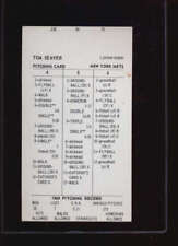 1969 PITCHING RECORD CARD TOM SEAVER OV2667