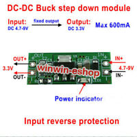 2PCS DC-DC  5V-9V 5V 6V to 3.3V 600mA Buck Step Down Converter Voltage Regulator