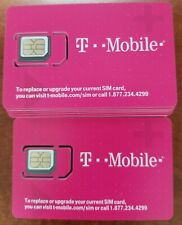 *LOT of 10 T-Mobile 4G SimCard Unactivated  T-MOBILE TRIPLE CUT SIM. (3 IN 1)
