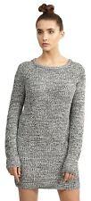 New Womens Plus Size Long Tunic Twist Knitted Sweater Jumper Mini Dress 18-24
