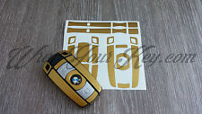 GOLD METALLIC Key Fob Wrap Cover Overlay BMW 1 3 5 6 Series Z4 X1 3 X5 X6 M