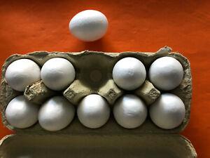 10 Styropor Eier zum Rechnen Spielen Basteln