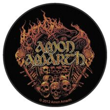 Amon Amarth - Battlefield Skull Circular Rund Patch Viking Metal Death Pagan NEU