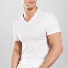 Lot of 12 Mens V-Neck T-Shirt Undershirt 100% Cotton Plain Tee White L