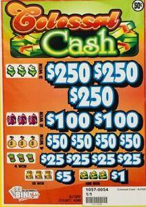 "Pull Tab .50 Ticket ""COLOSAL CASH"" -$700 BIG$-$PROFIT - FREE SHIPPING!"