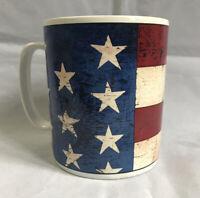 Warren Kimble Sakura Colonial Jumbo American Flag Mug Cup Large 28 oz. Stoneware