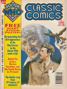 RARE: Doctor Who Classic Comics issue 4, with poster. % to charity do!