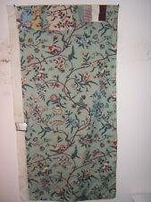 Brunschwig & Fils, Menars, Hand Printed, Vintage Flora Novelty, Color Aqua Multi