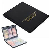 60 Holders Banknote Storage Paper Money Currency Album Folder  23 * 29.5cm