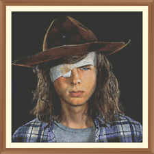 Carl grimes 1 walking dead CROSS STITCH CHART 12.0  x 12.0 Inches