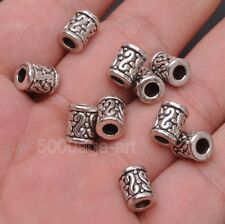 20pcs Tibetan silver charm Cylindrical bead spacer loose beads 9x7mm A3127