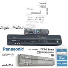 Panasonic dmr-ez49v DVD Recorder/VHS video grabador + FB + bda + embalaje original 1 año gewährl